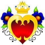 blommar guldhjärta Royaltyfri Bild