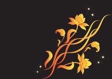 blommar guldprydnadar Arkivfoton