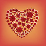 blommar hjärta Arkivfoton