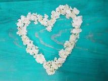 blommar hjärta royaltyfri bild