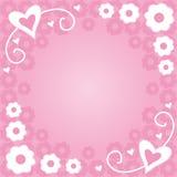 blommar hjärtor Royaltyfri Bild