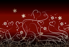 blommar hjärtor little stock illustrationer