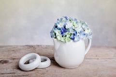 blommar hortensia arkivbilder