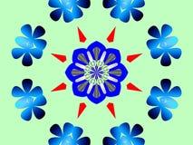 blommar kaleidescopecirkeln Royaltyfri Bild