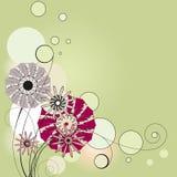 blommar karaktärsteckning Royaltyfri Fotografi