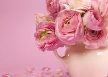Blommar konst. Gifta sig feriekort Royaltyfri Bild