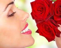 blommar kvinnan Royaltyfria Foton