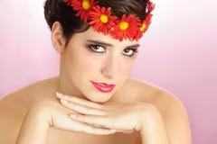 blommar kvinnan royaltyfri fotografi