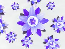 blommar lotusblomma stock illustrationer