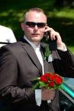 blommar makamantelefonen Royaltyfria Bilder