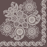 blommar mehndi vektor illustrationer