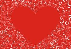 blommar omgiven hjärta Arkivfoton