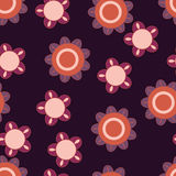 blommar orange purple Arkivfoto