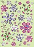 blommar organiskt vektor illustrationer