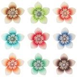 blommar origami arkivfoton