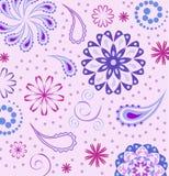 blommar paisley Royaltyfri Fotografi