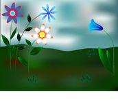 blommar phantastic royaltyfri illustrationer
