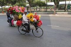 Blommar säljaren fotografering för bildbyråer
