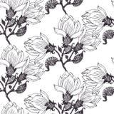 Blommar sömlös bakgrund Arkivbild