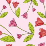 Blommar sömlöst abstrakt begrepp Royaltyfria Bilder