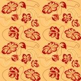 blommar seamless stock illustrationer