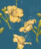 Blommar seamless bakgrund Arkivbild