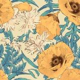 Blommar seamless mönstrar Royaltyfria Bilder