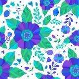 Blommar seamless mönstrar Royaltyfri Fotografi