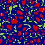 Blommar seamless mönstrar Arkivbilder