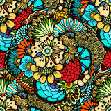 Blommar seamless mönstrar Royaltyfri Bild