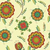 blommar seamless textur Royaltyfri Fotografi