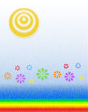 blommar solsken Arkivbild