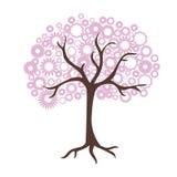 blommar treen stock illustrationer