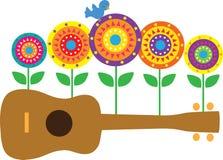 blommar ukulelen Fotografering för Bildbyråer