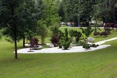 Blommar utsatt på Floraart, trädgårds- utställning för international 49 i Zagreb Royaltyfria Foton