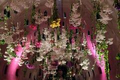 Blommar utsatt på Floraart, trädgårds- utställning för international 52 i Zagreb Royaltyfri Foto