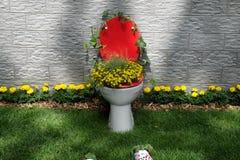 Blommar utsatt på Floraart, trädgårds- utställning för international 52 i Zagreb Arkivfoton