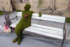 Blommar utsatt på Floraart, trädgårds- utställning för international 51 i Zagreb Royaltyfri Bild