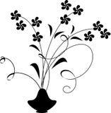 blommar vasen royaltyfri illustrationer
