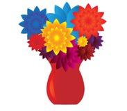 blommar vasen vektor illustrationer