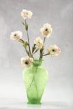 blommar vasewhite Royaltyfria Bilder