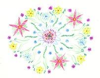 blommar vattenfärg Royaltyfria Bilder