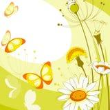 blommar vykortet stock illustrationer