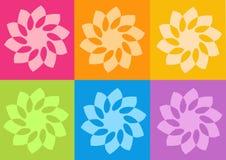 blommar yantrasyoga royaltyfri illustrationer