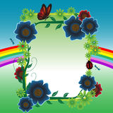 blommaram vektor illustrationer