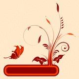 blommaram stock illustrationer