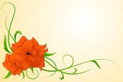 blommared royaltyfri illustrationer