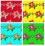 Blommarepetitionmodell Royaltyfria Bilder