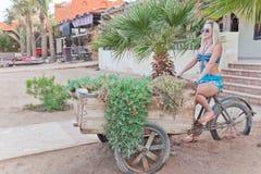 blommarickshaw Arkivfoto