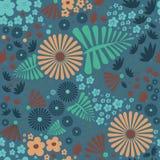 Blommaseamlesmodell Arkivfoto